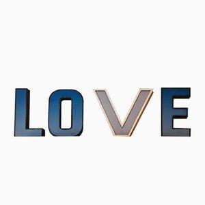 Deutsche Mid-Century LOVE Leuchtbuchstaben