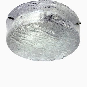 Vintage Glass Ceiling Lamp from Stölzle