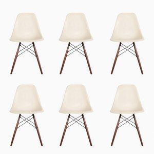 DSW Side Chairs by Charles & Ray Eames for Herman Miller, 1950s, Set of 6