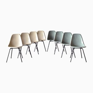 DSX Dining Chairs by Charles & Ray Eames for Herman Miller, 1960s, Set of 8