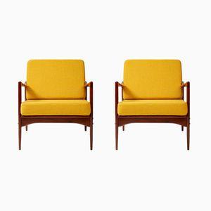 Candidate Chair aus Teak von Ib Kofod-Larsen für OPE, 1960er, 2er Set