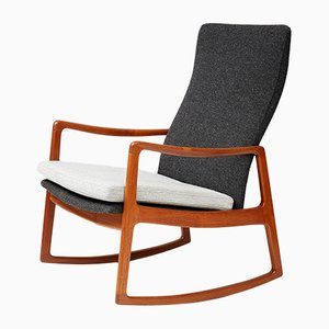 Rocking Chair Mid-Century FD-160 en Teck par Ole Wanscher pour France & Søn