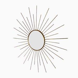 Specchio vintage a forma di specchio, anni '70