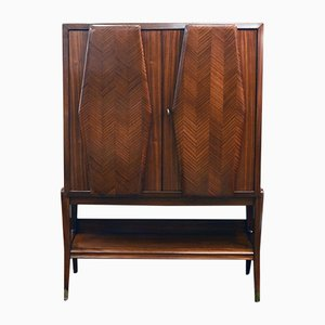 Rosewood Bar Cabinet with Mirrors and Lighting by Vittorio Dassi, 1950s