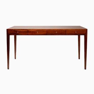 Rosewood Desk by Severin Hansen for Haslev Møbelsnedkeri, 1950s