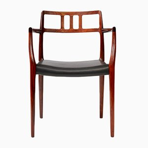 Model 64 Rosewood Chair by N. O. Møller for J.L. Møllers, 1962