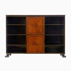 Open Art Deco Bookcase in Birch