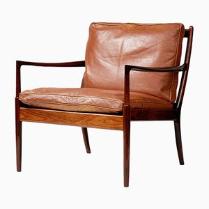 Rosewood Samso Lounge Chair by Ib Kofod-Larsen for OPE, 1958