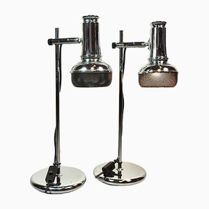 Chrome Lamps, 1980s, Set of 2