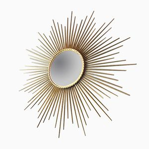 Vintage Convex Sunburst Mirror by Chaty Vallauris