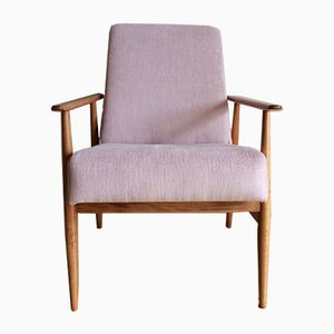 Mid-Century Armchair in Powder Pink by Hanna Lis