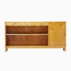 Mid-Century Scandinavian Birch Bookcase