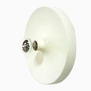 Minimalistische runde Wandlampe aus Aluminium, 1970er