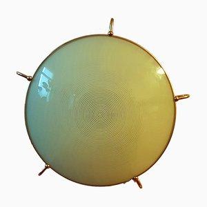 Mid-Century Wandlampe aus Messing und Glas von Erco, 1960er