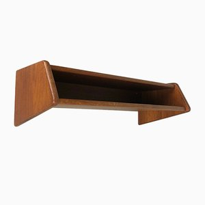 Minimalist Danish Teak Shelf by Kai Kristiansen for Aksel Kjersgaard, 1960s