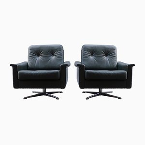Vintage Cube-Shaped Swivel Chairs, 1960s, Set of 2