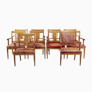Scandinavian Mahogany Armchairs, 1950s, Set of 10