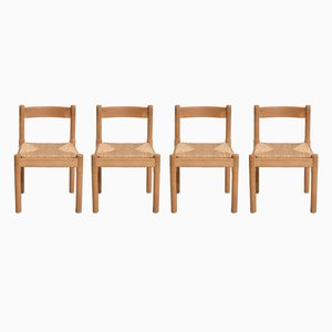 Vintage Carimate Cane Dining Chair by Vico Magistretti for Cassina, Set of 4