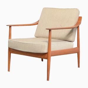 Chaise Antimott Vintage en Teck de Wilhelm Knoll