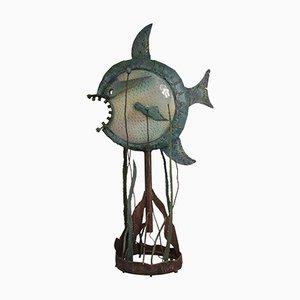 Lámpara de pie brutalista escultural, años 60