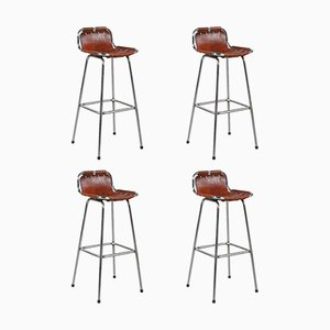 Vintage Bar Stools, 1960, Set of 4