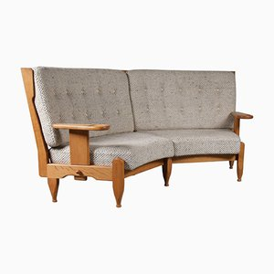 Corner Sofa by Guillerme et Chambron, 1940s