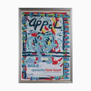 Lithograph by Karel Appel for the Bols Art Exhibition, 1981