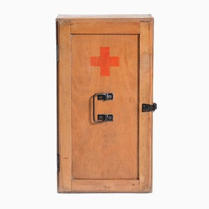 Czechoslovakian First Aid Cabinet in Wood, 1970s