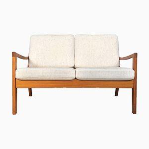 Danish Senator Teak Two-Seater Sofa by Ole Wanscher for France & Søn, 1960s