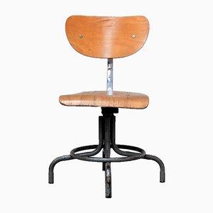 Small Vintage Industrial Workshop Chair