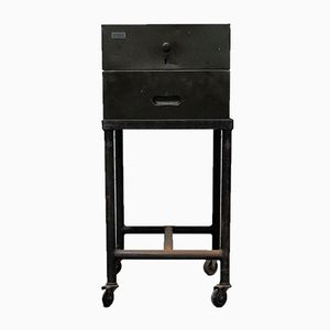 Vintage Industrial Filing Cabinet on Wheels