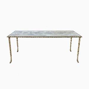 Table Basse en Bronze Doré de Maison Baguès, 1950s