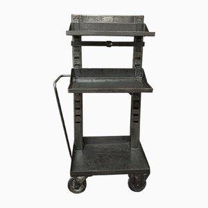 Fabrik-Rollwagen aus Metall von Valentini, 1950er