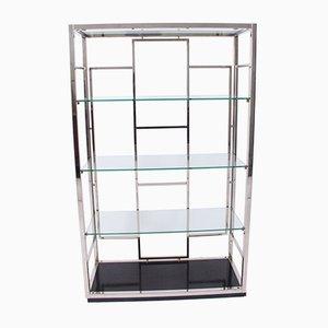 Vintage Chrome and Glass Shelves