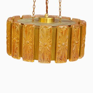 Lampada a sospensione vintage in vetro di Vitrika