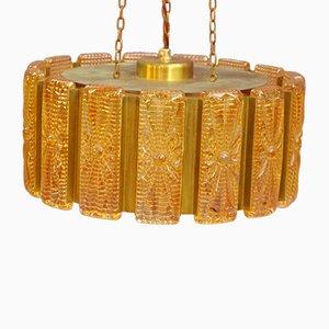 Lámpara colgante vintage de vidrio de Vitrika