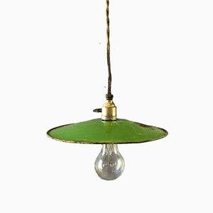 Glasierte französische Vintage Deckenlampe