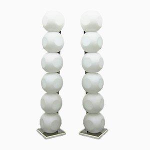 Lámparas de pie Ball de Luci, años 60. Juego de 2