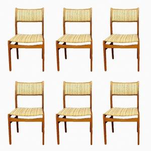 Dänische Teak Stühle, 6er Set