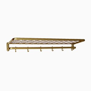 Mid-Century Brass Coat Rack