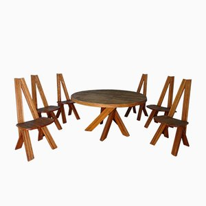 Mid-Century Dining Room Set by Pierre Chapo