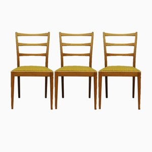 Danish Teak Chairs, Set of 3