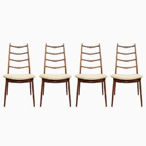 Chaises en Teck de Habeo, 1960s, Set de 4