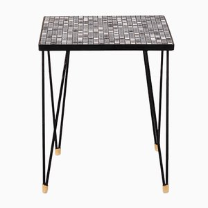 Vintage Mosaic Tiled Side Table with Hairpin Legs, 1970s