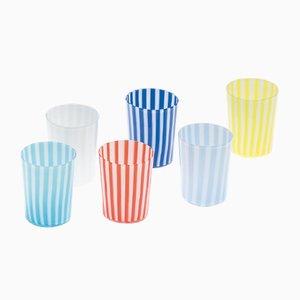 Vasos Pastelli de LPWK para Purho Murano. Juego de 6