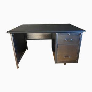Mid-Century Büro-Schreibtisch aus geschliffenem Metall
