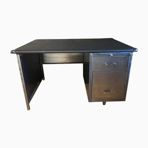 Mid-Century Stripped Metal Office Desk