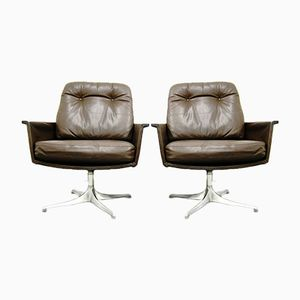 Leather Armchairs by Horst Brüning for Cor, 1960s, Set of 2