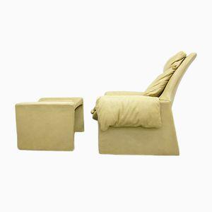 Vintage P60 Sessel mit Hocker von Vittorio Introini für Saporiti