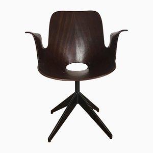 Chaise de Bureau Medea Vintage avec Base Pivotante par Vittorio Nobili pour Fratelli Tagliabue, 1950s